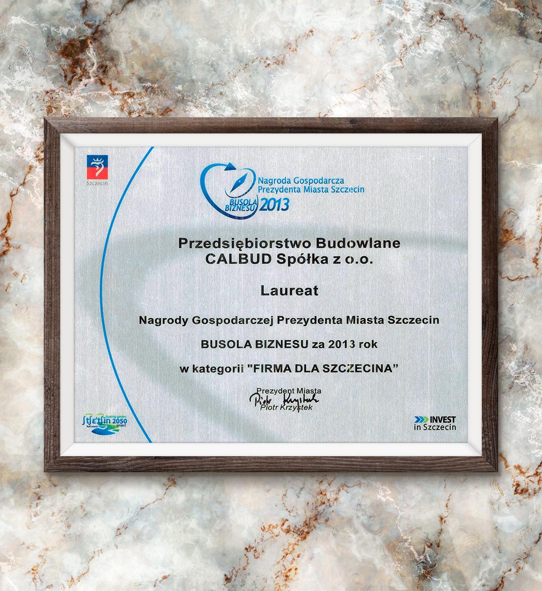 Busola Biznesu za 2013 rok - laureat w kategorii