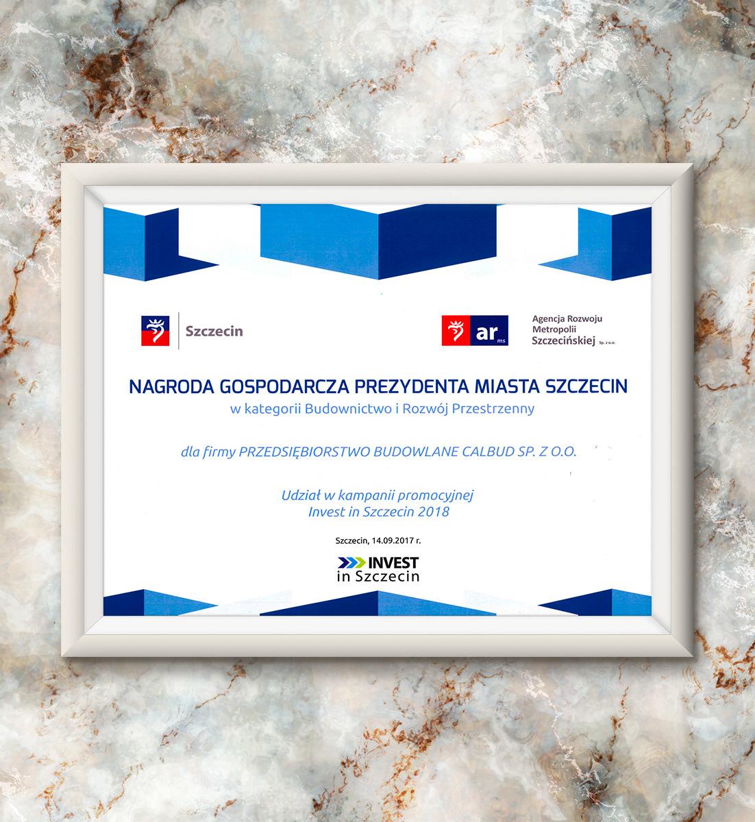 Nagroda Gospodarcza Prezydenta Miasta Szczecin | 2017